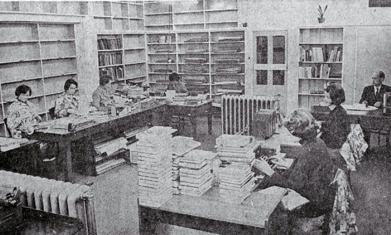 The cataloguing and processing department of the Canterbury Public Library moved to the area that was formerly the bindery, who had moved to the ground floor of the library house next door in Cambridge Terrace