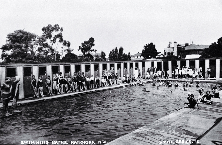 A busy day for the Rangiora swimming baths
