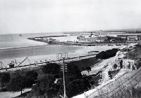 A view of the Port of Timaru from the promenade above Caroline Bay [193-?]