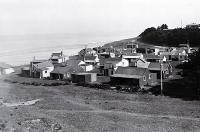 Holiday baches at Hakatere, on the north side of the Ashburton River mouth [193-?]