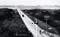 The combined Rakaia road and rail bridge built in 1873 [193-?]