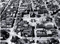 Aerial view of the Cathedral Square and central Christchurch [June 1952]