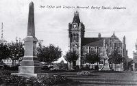 The Trooper's Memorial, Baring Square, Ashburton, with the second Post Office in the background [192-]