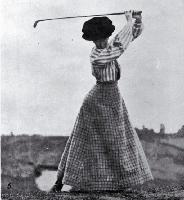Miss Cowlishaw competing in the Christchurch Golf Club's Easter Tournament held on the Shirley Links