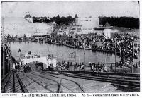 A view of Wonderland and the rest of the New Zealand International Exhibition 1906-1907 from the top of the waterchute [1906]