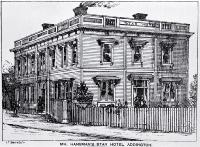 Star Hotel (late Feathers), Addington, Christchurch [ca. 1885]