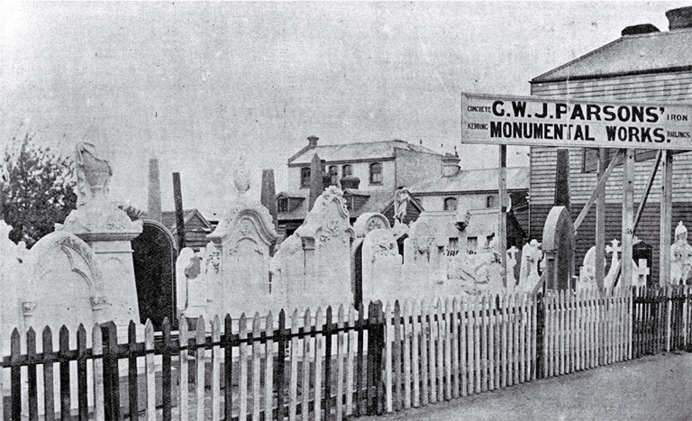 G. W. J. Parsons, monumental and general mason, Manchester Street, Christchurch [1898]