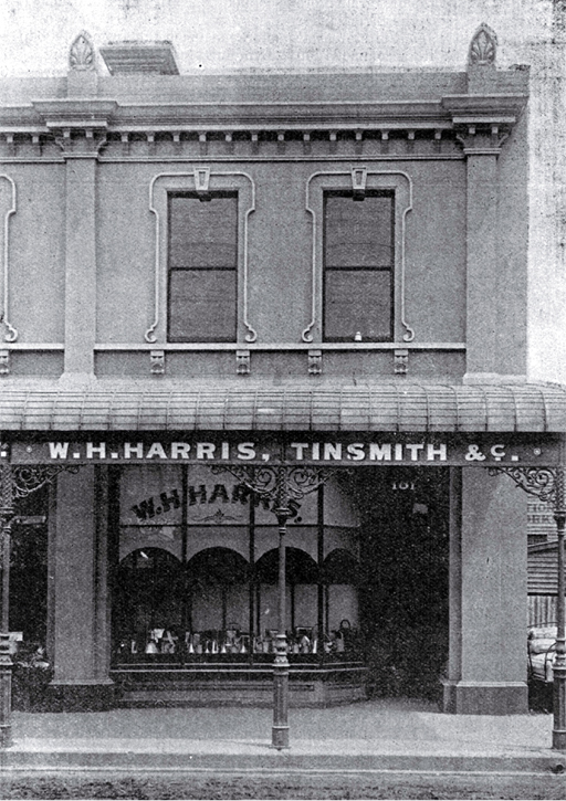 William H. Harris, wholesale tinsmith, 101 Colombo Street, Christchurch