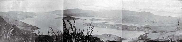 View of Lyttelton harbour from the Summit Road