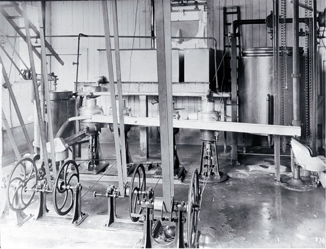 Interior of butter factory