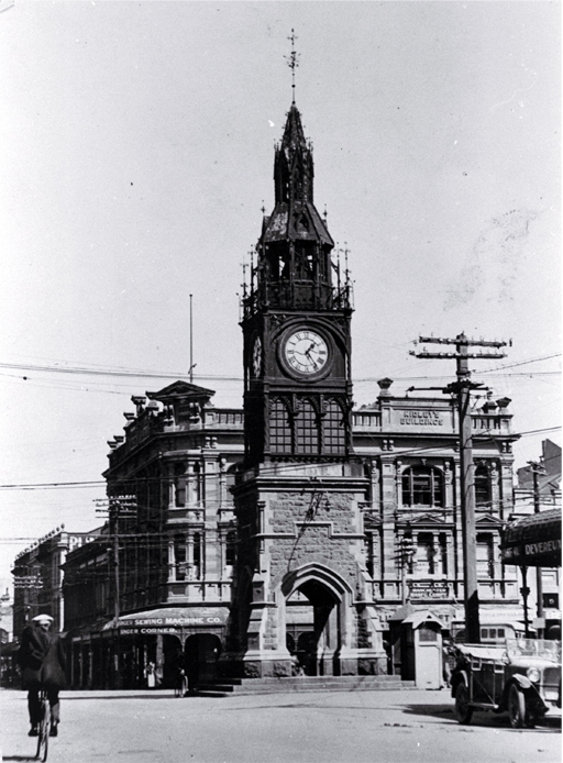 The clock tower, Christchurch