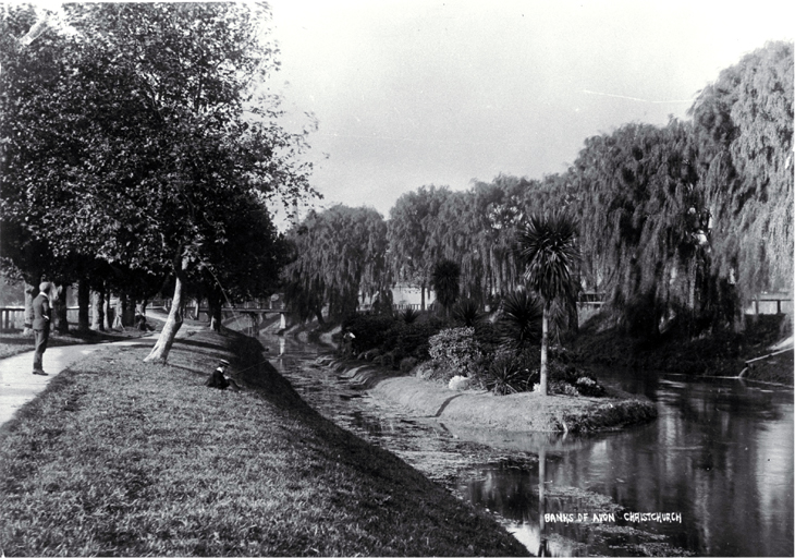 Banks of the Avon river, Christchurch
