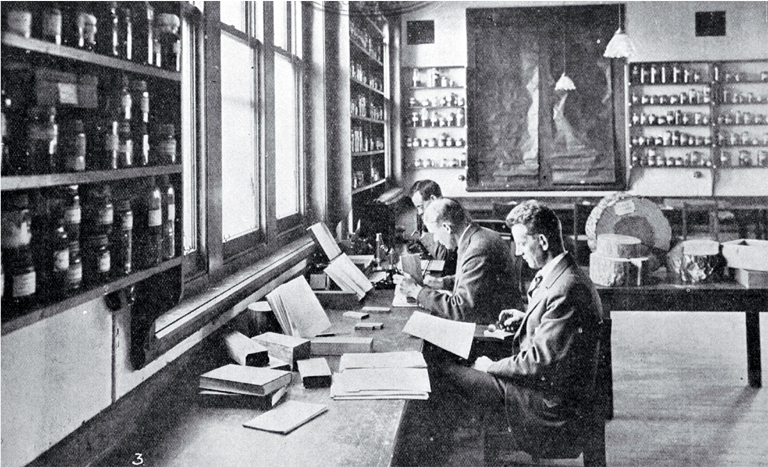 Students in a laboratory class in wood technology, School of Forestry, Canterbury College