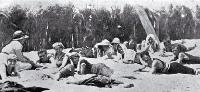 Sunbathing at New Brighton beach, Christchurch [1918]