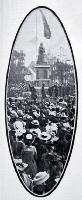The Mayoress, Mrs Wigram unveils the memorial statue of Queen Victoria in Victoria Square on Empire Day - 1903 - Detail