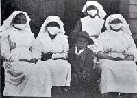 Nurses at Maori Hospital, Temuka, South Canterbury. 1918
