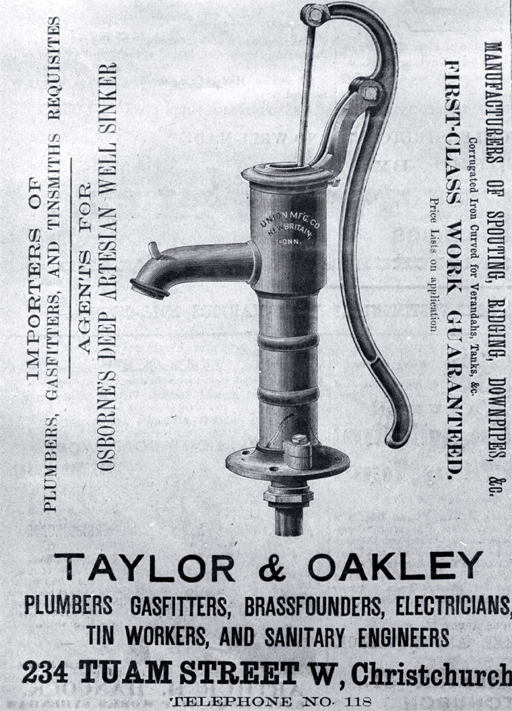 Taylor & Oakley, 234 Tuam Street, Christchurch : an advertisement.
