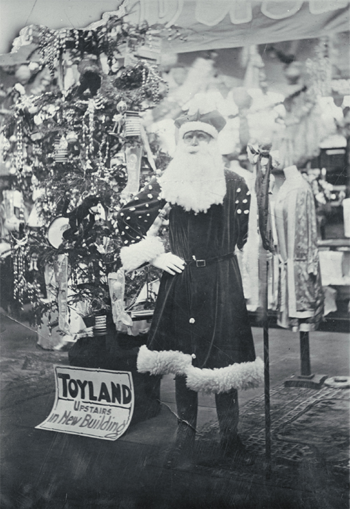Father Christmas at T. Armstrong & Co. premises  [ca. 1930]. CCL PhotoCD 16, IMG0053