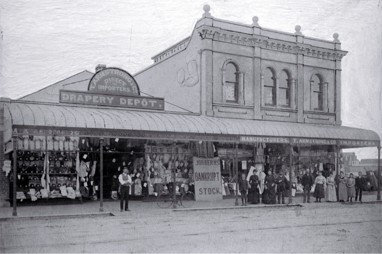 The premises of T. Armstrong & Co., 110-114 High Street, Christchurch