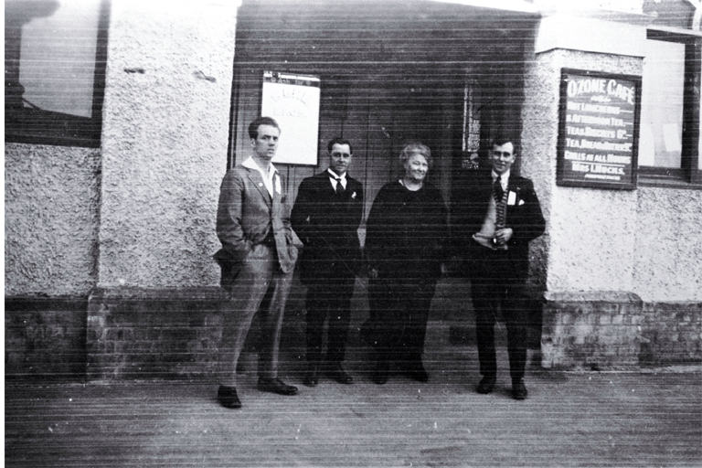 Isabella Hucks and unidentified men