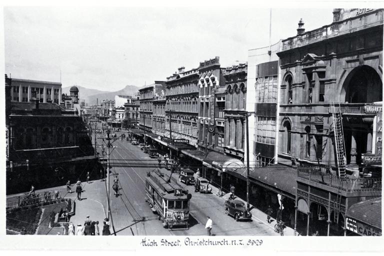 High Street, Christchurch. 1945 - 50