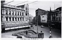 Corner of High and Cashel Streets, looking north-west, 194?
