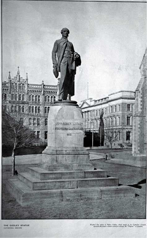 The Godley statue, Cathedral Square, Christchurch