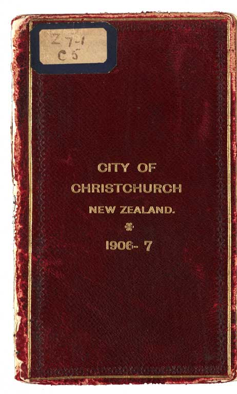 Cover of City of Christchurch Yearbook, 1906 - 7