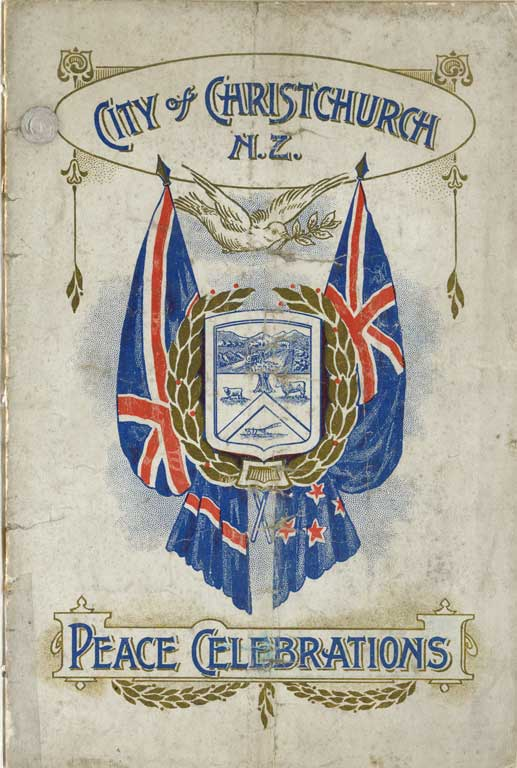 Cover of City of Christchurch, N.Z. : peace celebrations, 1919