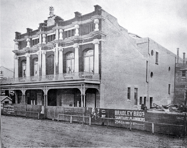 Exterior view of the Theatre Royal, Christchurch, prior to opening