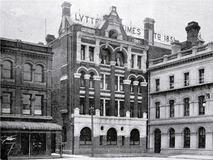 The Lyttelton Times' new premises, 1903