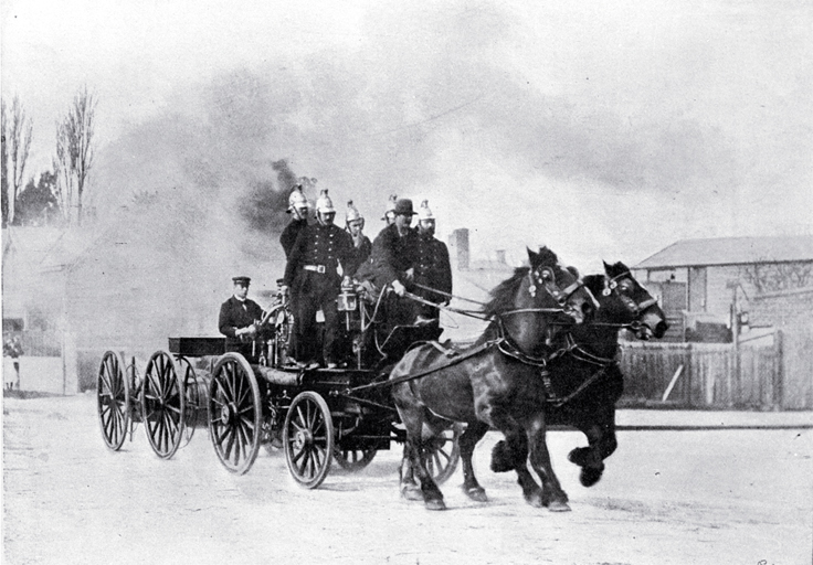 A fire brigade turn-out in Christchurch