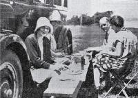 A family picnic on a summer's day at Addington Show Grounds' motorists camping ground, Christchurch [1929]