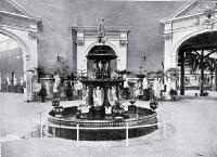 New Zealand International Exhibition : the grand hall with central fountain. [1907]