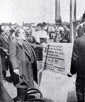 New Zealand International Exhibition the laying of the foundation stone by the Premier, Mr Seddon.