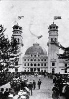 The main entrance building to the New Zealand International Exhibition 1906/7, Hagley Park, Christchurch