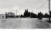 Early Christchurch motorists at the Hagley Park end of Riccarton Road