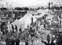 Carnival Week in Christchurch the implement section of the Canterbury A & P Association's metropolitan show. [1899]