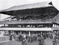 Addington Raceway stewards' stand, New Zealand Metropolitan Trotting Club's August meeting - 1915