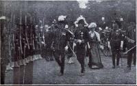 Lord Plunket, attended by Colonel Bauchop, leads the way