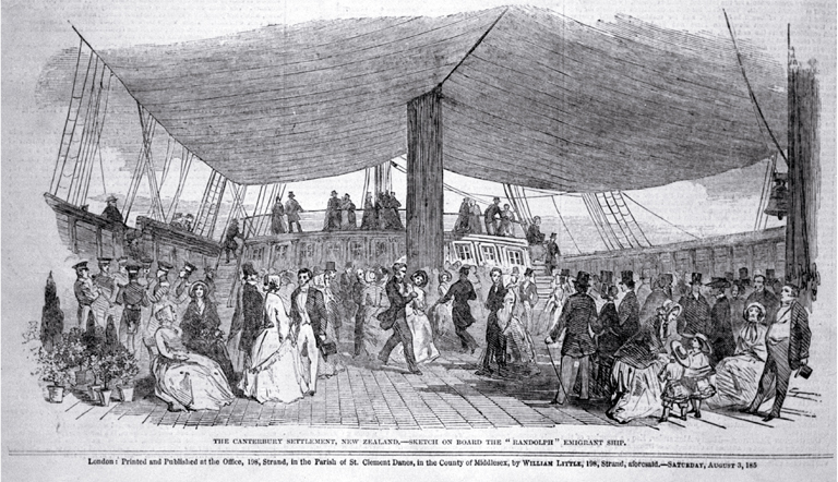 A reception on board the Randolph, East India Export Dock, Blackhall
