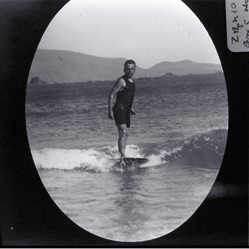 A man surfing, possibly at a Wellington beach