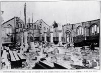 Progress on the nave of Christchurch Cathedral as it appeared in 1878