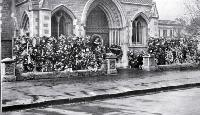 ANZAC wreaths at Christchurch Cathedral, 25 April 1923