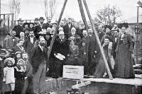 Laying of the foundation stone for the second Methodist Sunday School, St Albans, Christchurch, 1902