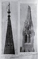 Earthquake damage to the Cathedral spire, in 1888 and 1901 [1901] Christchurch City Libraries, CCL PhotoCD 3, IMG0059