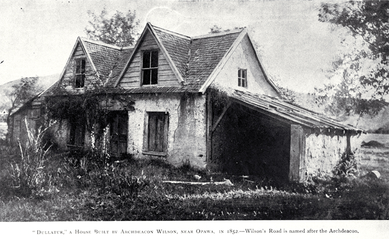 Dullatur : a house built in 1852 by Archdeacon James Wilson on what is now the site of Waltham Park.