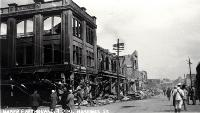 Hastings Street after the Napier earthquake