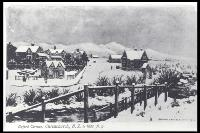 Snow on Oxford Terrace, Christchurch, 1862