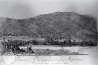 Volunteer Encampment at Hillsborough, Christchurch, 1865